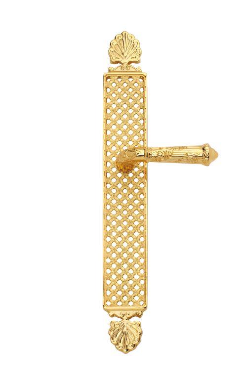 Dveřní klika Palace s potahem 24k zlata