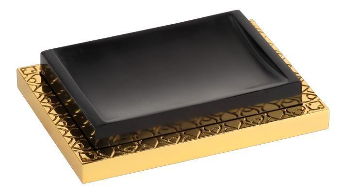 Miska na mýdlo Frame volně stojící s potahem 24k zlata