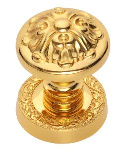 Dveřní koule Blossom 55mm potah zlato 24k