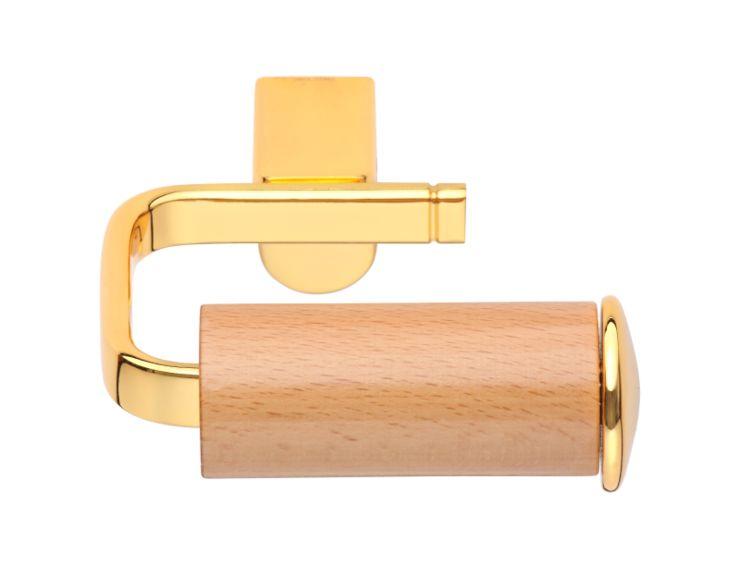 Úchyt na toaletní papír Gusto s potahem 24k zlata