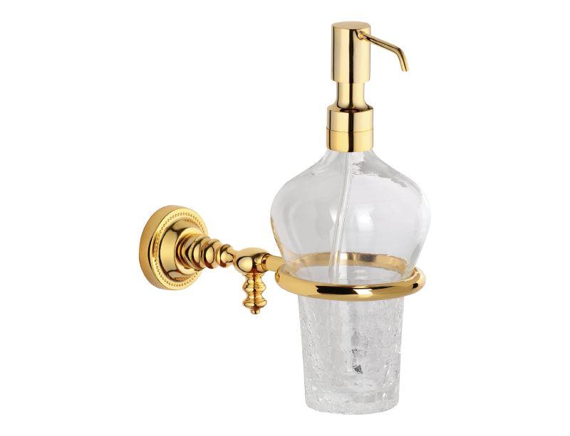 Dávkovač mýdla Antik s potahem 24k zlata