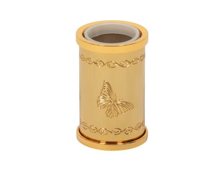 Téglik na kefky Butterfly volne stojace s poťahom 24k zlata