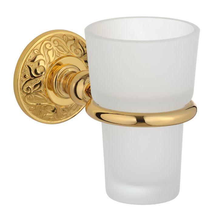 Téglik na kefky Blossom (s úchytom do steny)  s poťahom 24k zlata