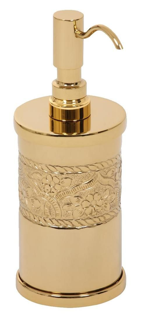 Dávkovač mýdla Rose volně stojící s potahem 24k zlata