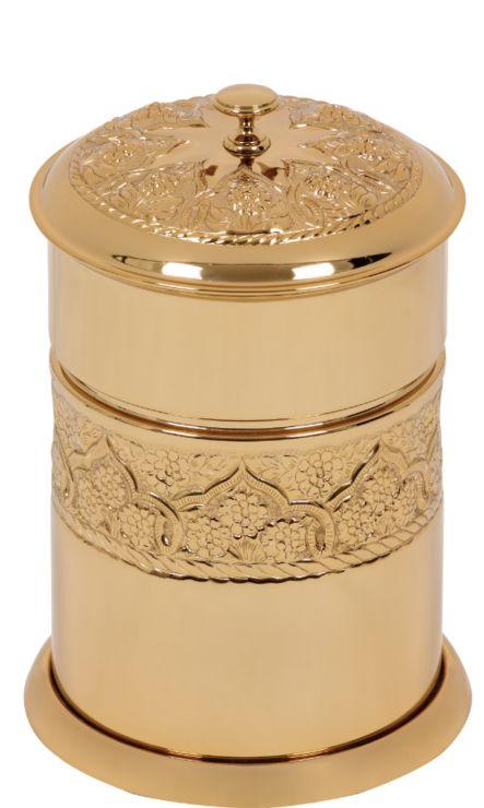 Kúpeľňový odpadkový kôš Rose s poťahom 24k zlata