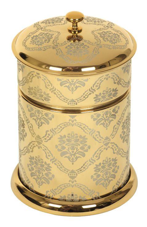 Koupelnový odpadkový koš Desenli s potahem 24k zlata