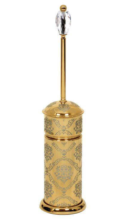 Toaletná kefa Desenli s poťahom 24k zlata