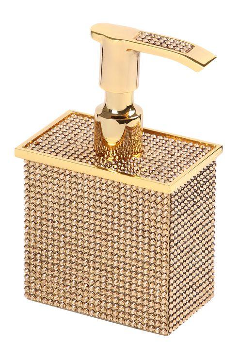 Dávkovač mydla Rosa s poťahom 24k zlata