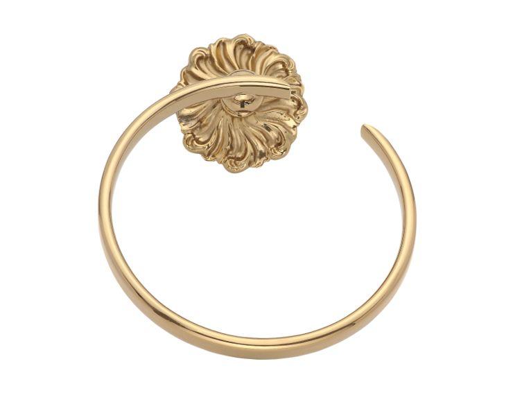 Kruh na uterák Wave s poťahom 24k zlata