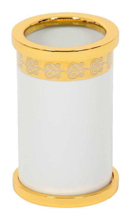 Téglik na kefky Porcelaine volne stojace s poťahom 24k zlata