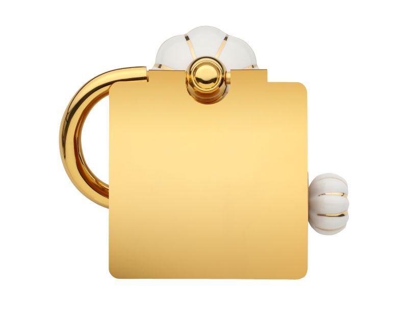Úchyt na toaletní papír Nisa s potahem 24k zlata