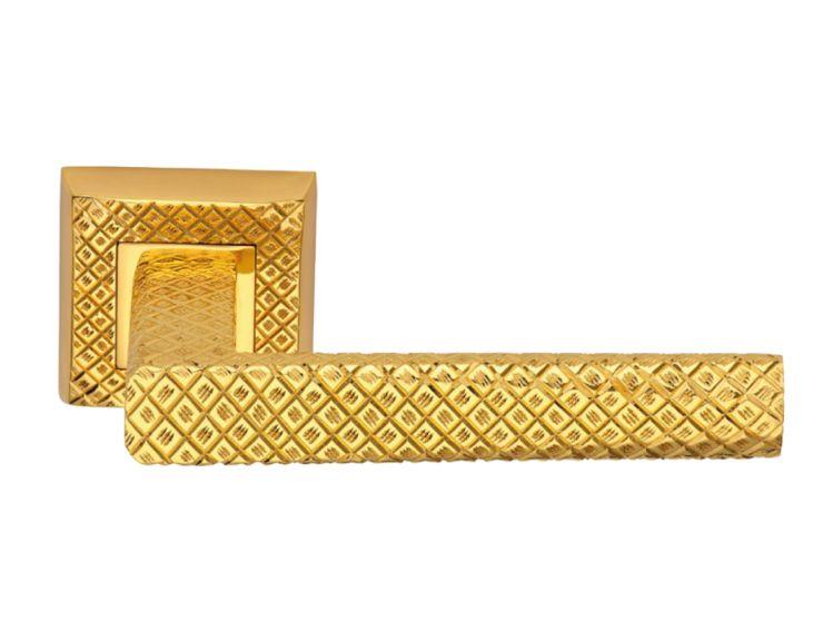 Dveřní klika Selk s potahem 24k zlata