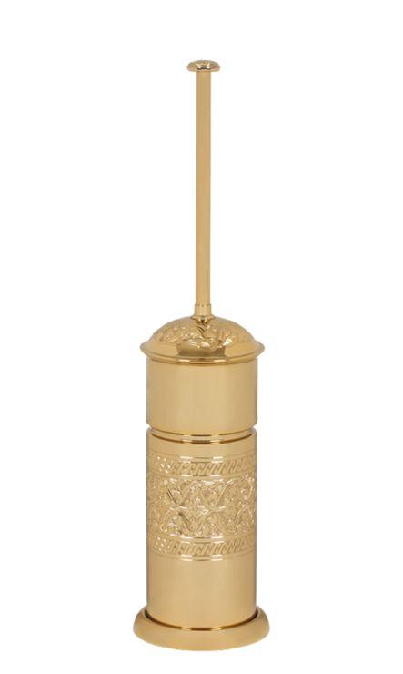 Toaletná kefa Sefa volne stojace s poťahom 24k zlata
