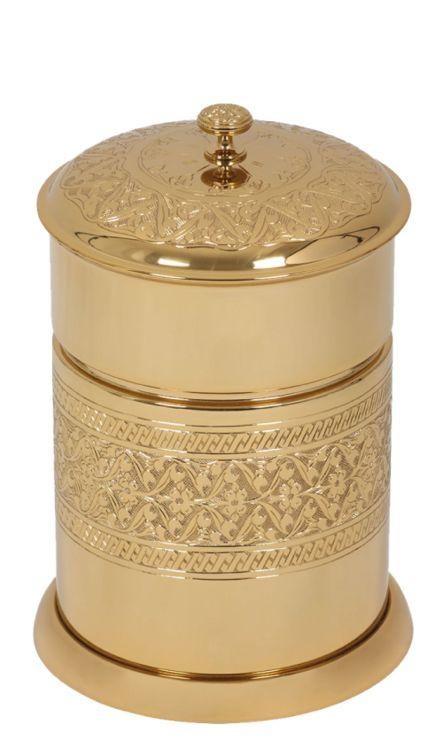 Koupelnový odpadkový koš Sefa  s potahem 24k zlata