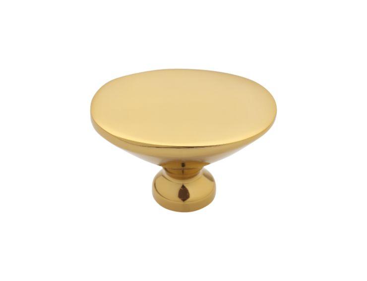 Nábytková knopka Boccolo 33x24mm hladká s potahem 24k zlata