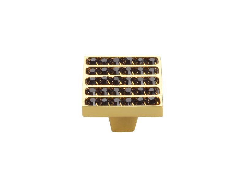 Nábytková knopka Rosa 30x30mm s potahem 24k zlata