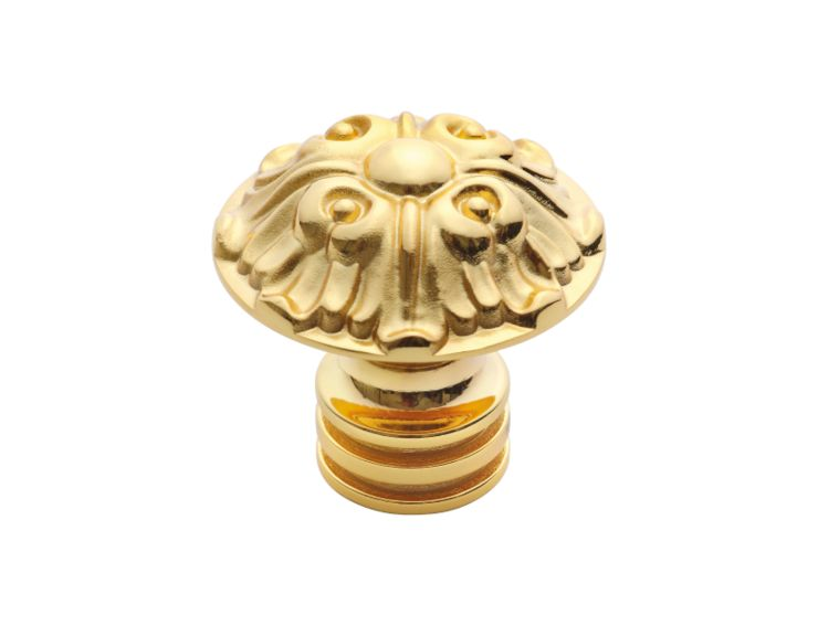 Nábytková knopka Blossom průměr 48mm s potahem 24k zlata