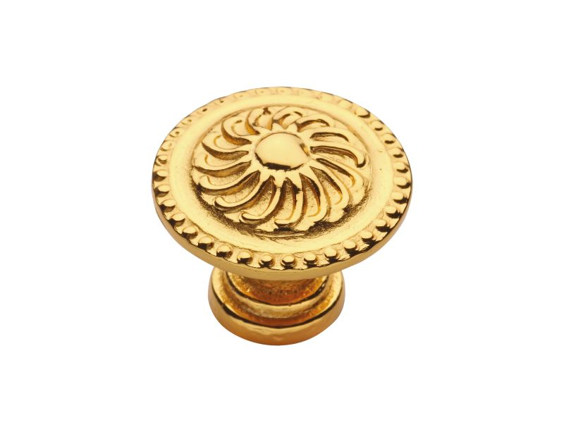 Nábytková knopka Klasicismus s poťahom 24k zlata