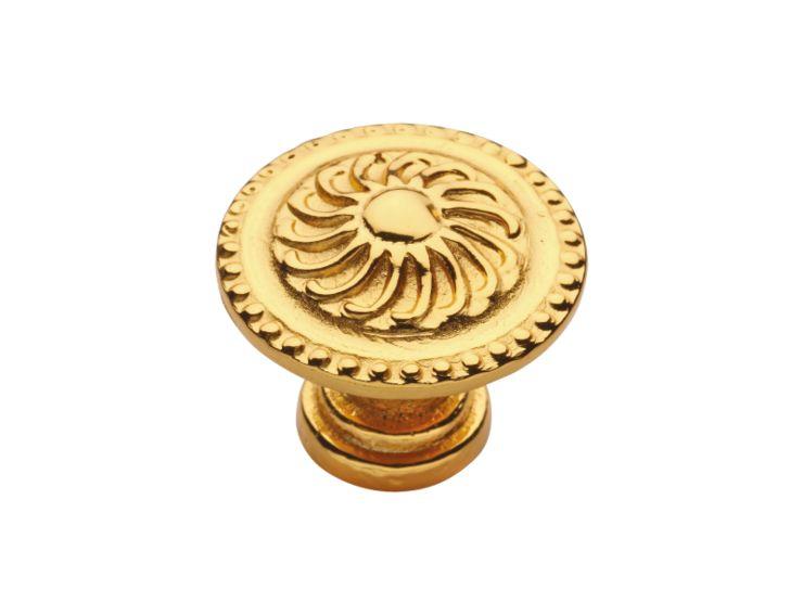 Nábytková knopka Klasicismus průměr 24mm s potahem 24k zlata