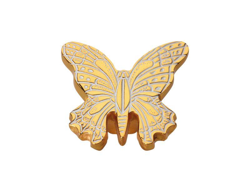 Nábytková knopka Butterfly 40x50mm s poťahom 24k zlata
