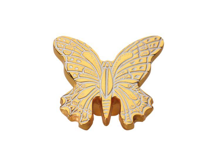 Nábytková knopka Butterfly 40x50mm s potahem 24k zlata