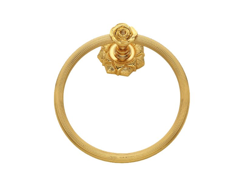 Kruh na ručník Rustik s potahem 24k zlata