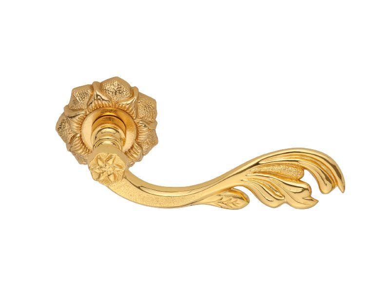 Dveřní klika Daphne s potahem 24k zlata