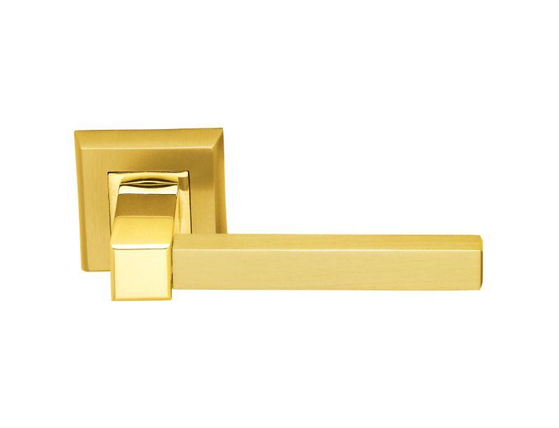 Dveřní klika Cubic s potahem 24k zlata lesk/mat