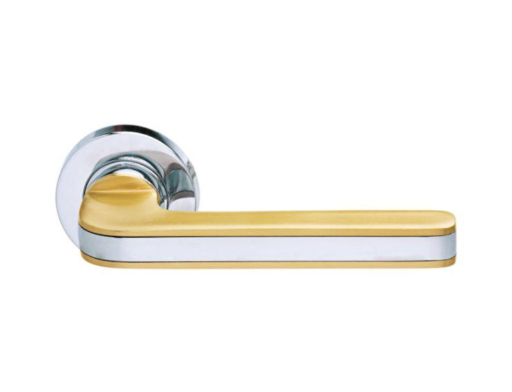 Dveřní klika Segno - kombinace zlato/chrom