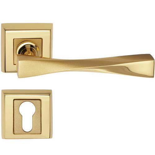 Dveřní klika Zara s potahem 24k zlata