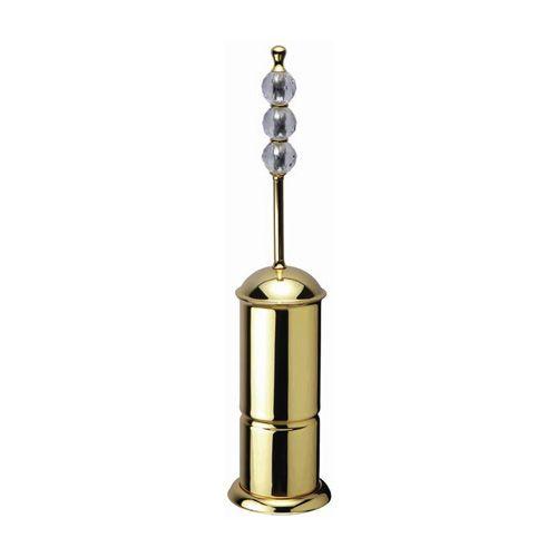 Toaletní kartáč Bebek volně stojící 3 krystaly s potahem 24k zlata