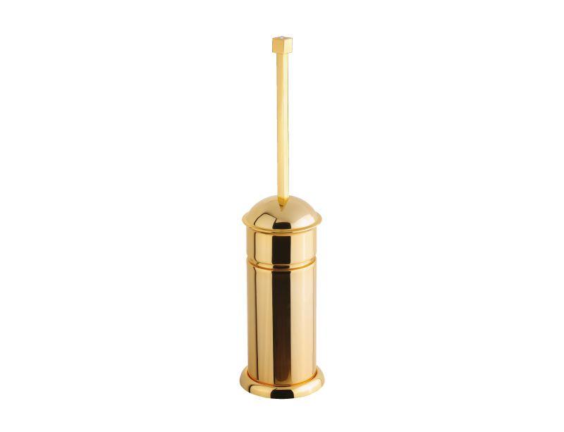 Toaletní kartáč Tria volně stojící  s potahem 24k zlata