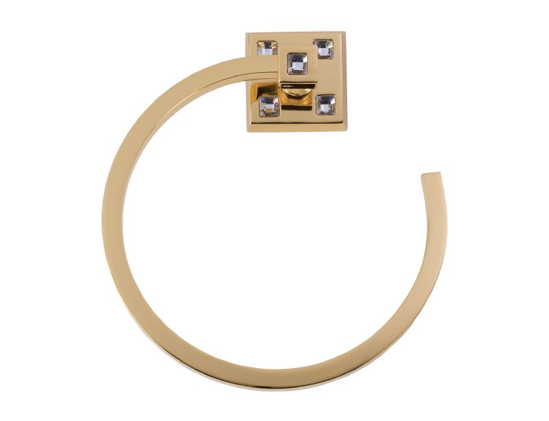 Kruh na ručník Tria s potahem 24k zlata
