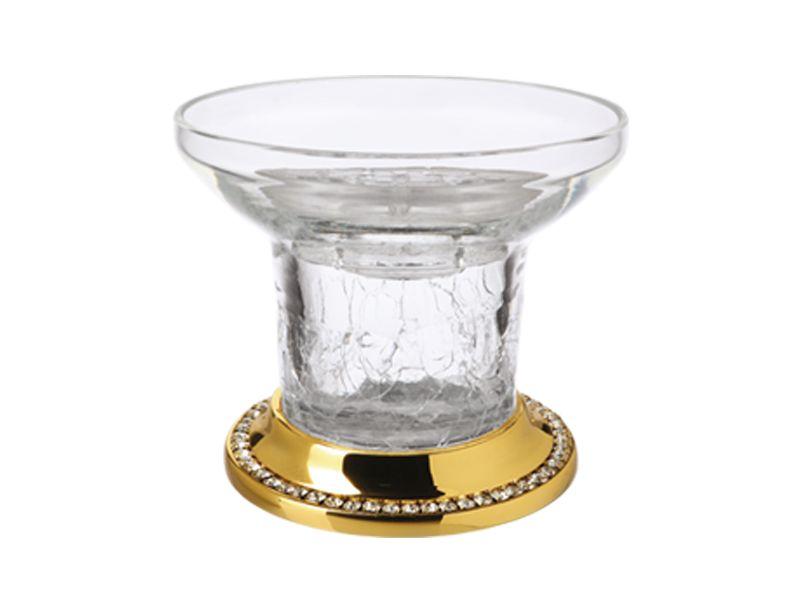 Miska na mýdlo Almara volně stojící s potahem 24k zlata