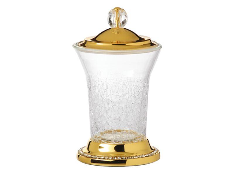 Nádoba na odličovací tampony Almara s potahem 24k zlata
