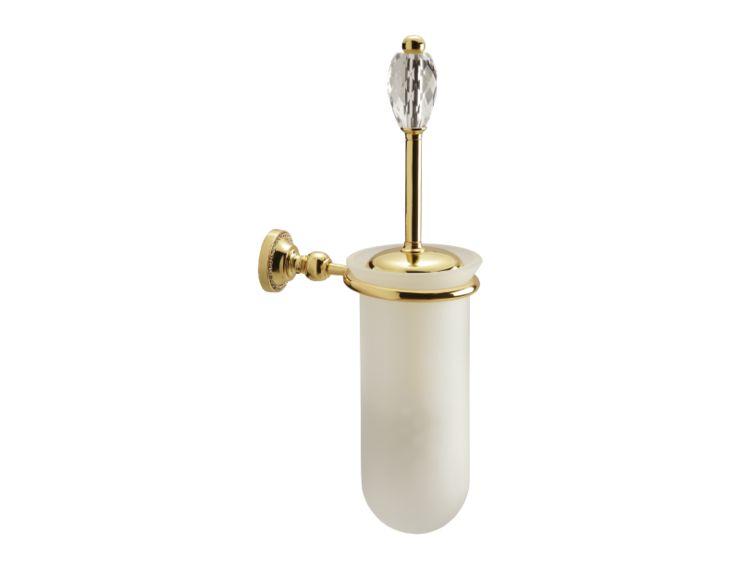 Toaletná kefa Almara 1 kryštál - úchyt do steny s poťahom 24k zlata
