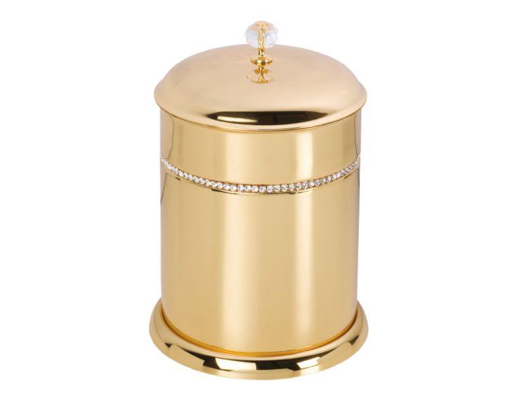 Kúpeľňový kôš  Almara s poťahom 24k zlata