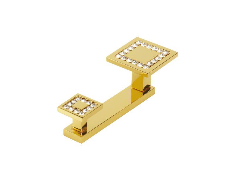 Věšák Almara 2 háčky s potahem 24k zlata