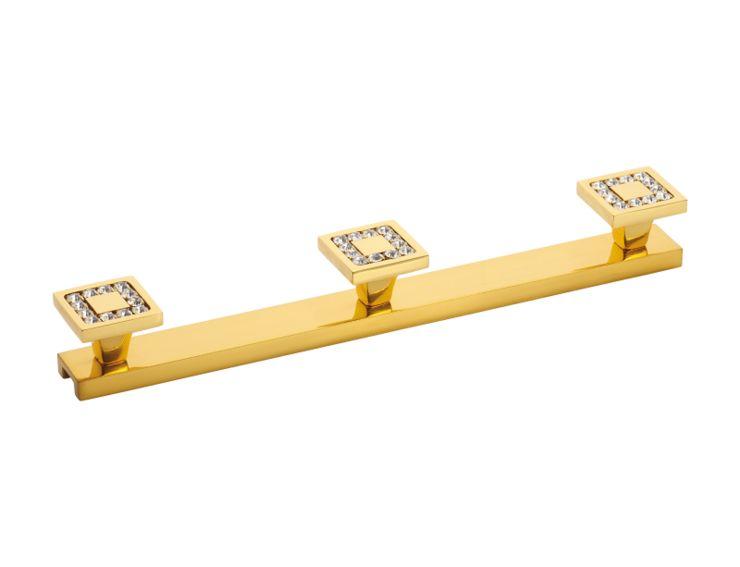 Věšák Mimoza 3 háčky s potahem 24k zlata