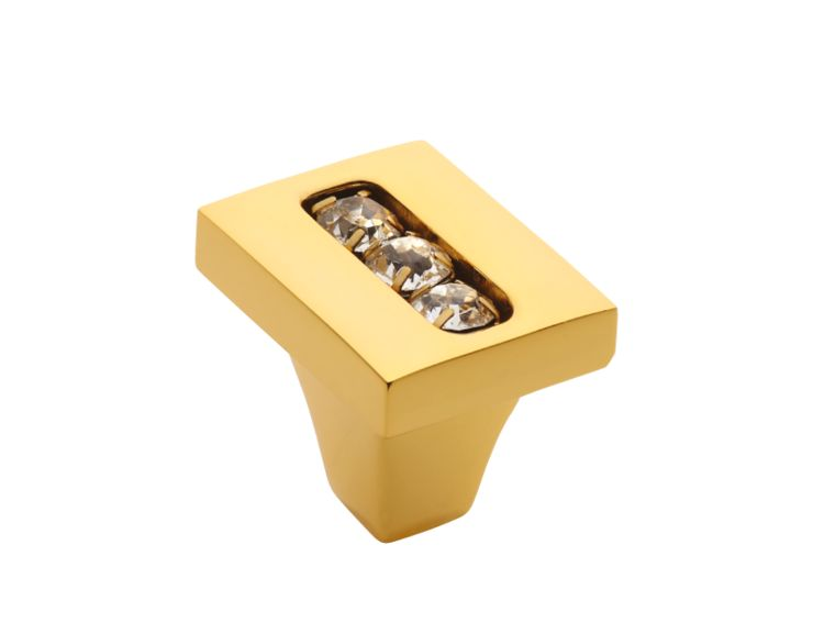 Nábytková knopka Almara 19x21 mm s potahem 24k zlata