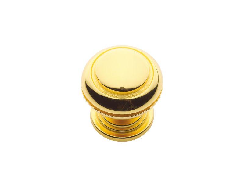 Nábytková knopka Antik průměr 30mm s potahem 24k zlata