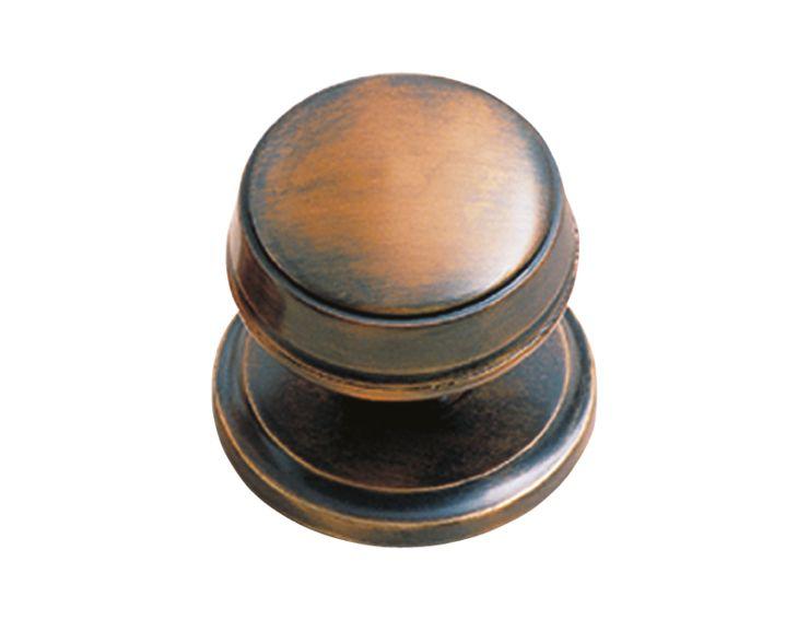 Dveřní koule Burak -  chrom,  patinovaná měď