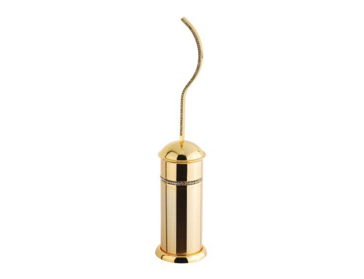 Toaletní kartáč Mimoza volně stojící s potahem 24k zlata