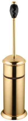 Toaletná kefa Almara voľne stojace (1 kryštál) s poťahom 24k zlata
