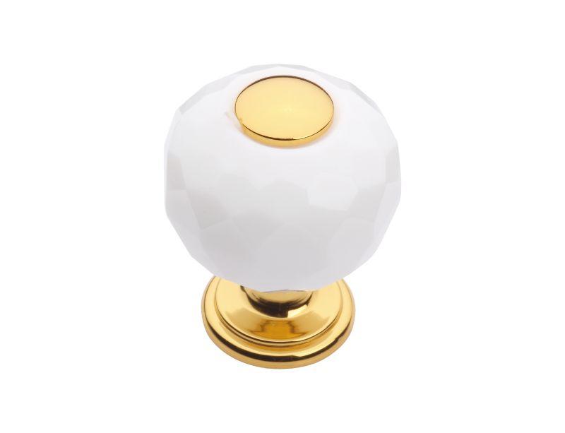 Komodová knopka Bebek s bílým krystalem průměr 20mm