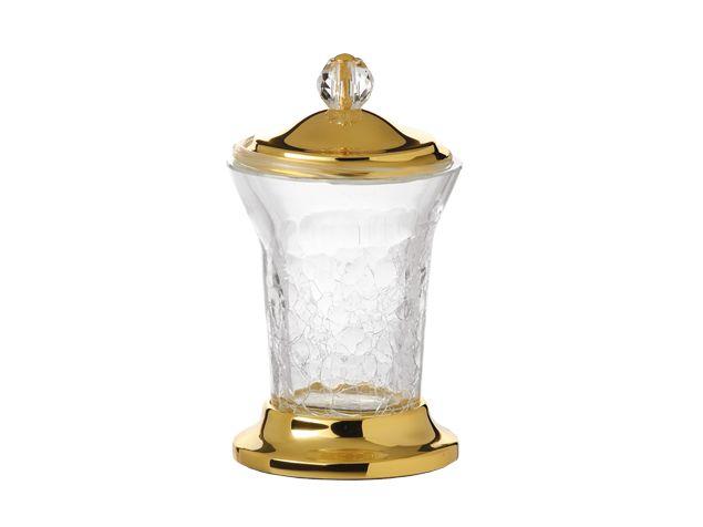 Nádoba na odličovací tampony Bebek volně stojící s potahem 24k zlata