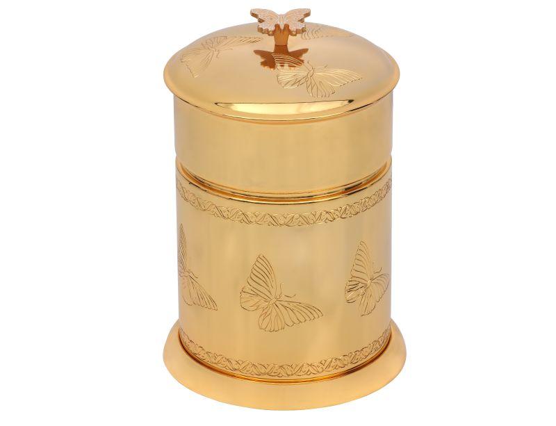 Koupelnový odpadkový koš Butterfly s potahem 24k zlata