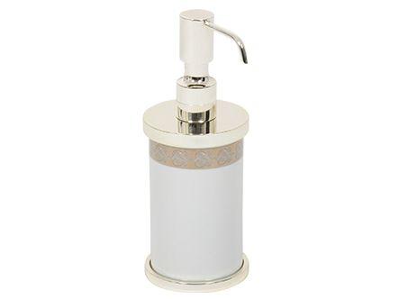 Dávkovač mýdla Porcelaine volně stojící  se stříbrným potahem