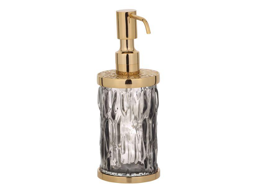 Dávkovač mýdla Wave volně stojící s potahem 24k zlata