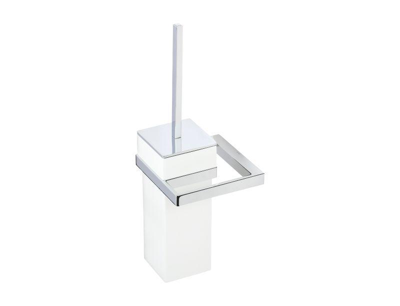 Toaletní kartáč Frame bez vzoru (s úchytem do zdi)